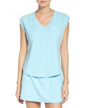 Nike Pure Dri-Fit Tennis Top  - Blue
