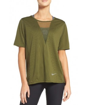 Nike Zonal Cooling Relay Tee  - Green