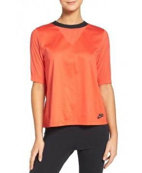 Nike Pleated Back Top  - Orange