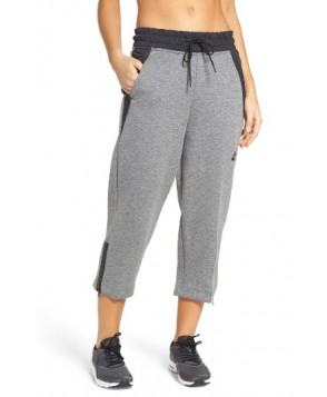 Nike Sportswear Tech Fleece Crop Pants  - Grey