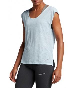 Nike Breathe Running Tee  - Blue