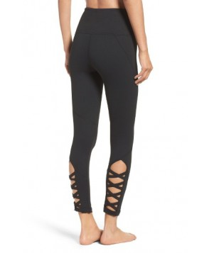 Zella High Waist Lattice Midi Leggings