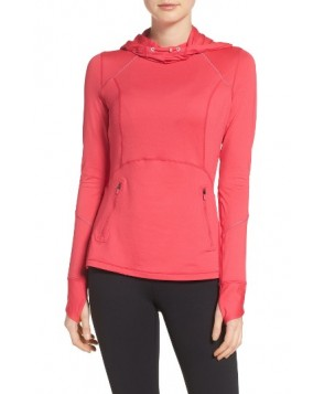 Zella Run Free Hooded Pullover  - Pink