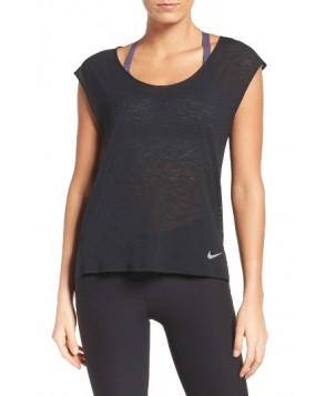 Nike Breathe Running Tee  - Black
