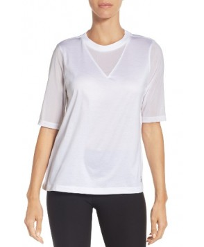 Nike Pleated Back Top  - White