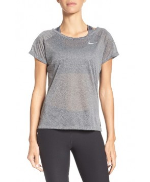 Nike Breathe Running Top  - Grey