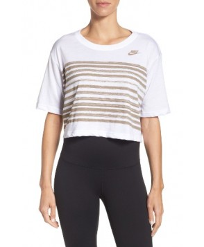 Nike Sportswear Crop Tee  - White