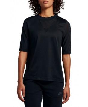Nike Pleated Back Top  - Black