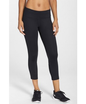 Nike 'Epic Run' Dri-FIT Crop Tights,  - Black