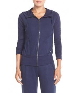 Alo 'Prism' Fleece Front Zip Hoodie,  - Blue
