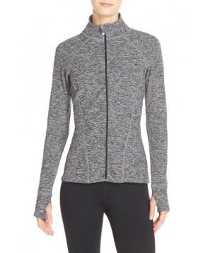 Beyond Yoga Peplum Back Jacket,  - Grey