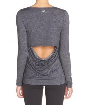 Beyond Yoga Cowl Back Tee,  - Grey