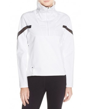Nike 'Motion' Water Resistant Half Zip Jacket,  - White