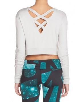 Alo 'Ava' Cross Back Crop Sweater