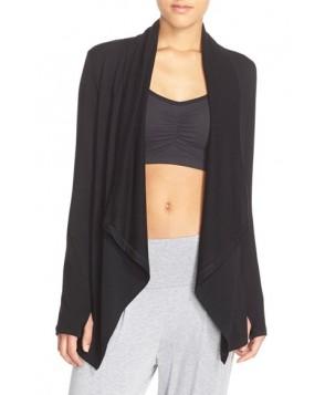 Beyond Yoga Drape Front Cardigan,  - Black