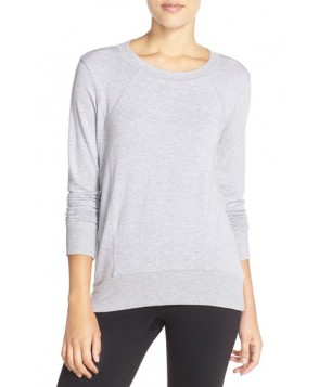 Beyond Yoga Terry High/Low Pullover,  - Grey