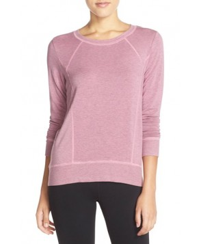 Beyond Yoga Terry High/Low Pullover,  - Pink