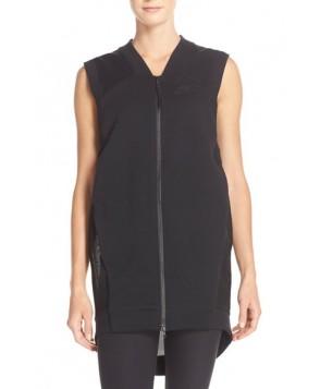 Nike Mesh Back Fleece Vest,  - Black