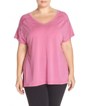 Plus Size Zella 'The Peace' Side Tie Tee, X - Pink
