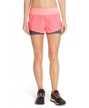 Zella 'Euphoria' Layered Running Shorts,  - Pink