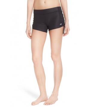 Alo 'Sweat It' Tie Side Shorts,  - Black