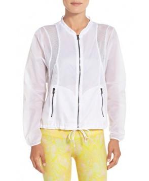 Alo 'Sunset' Mesh Inset Jacket,  - White