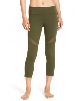 Zella 'Cabana' Crop Leggings,  - Green