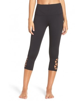 Zella Midnight High Waist Crop Leggings