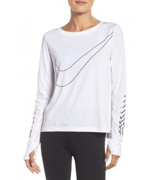 Nike Breathe Top  - White