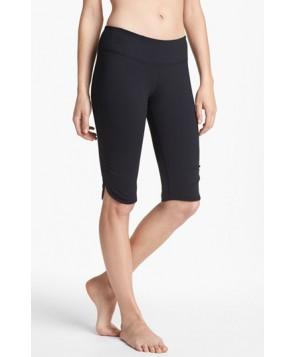 Zella 'Live In' Slim Fit Knee Shorts,  - Black
