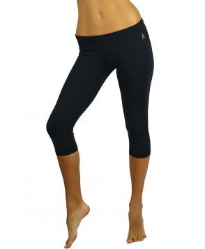 Balance Fit Wear Black Foldover Capri