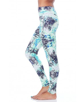 Balance Fit Wear Long Legging-Reptile Aqua