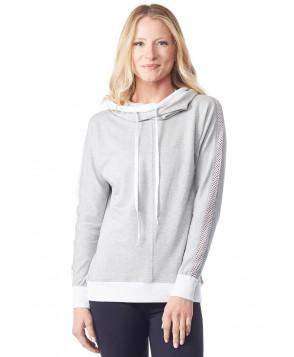Chichi Active Audrey Hooded Sweatshirt w/ Mesh