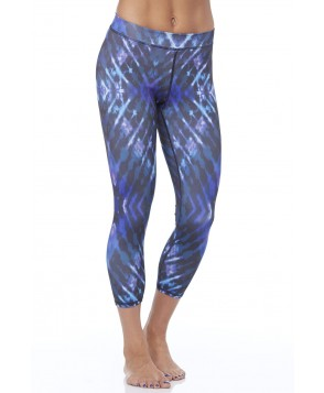 Electric & Rose Blue Tie Dye Shell Legging