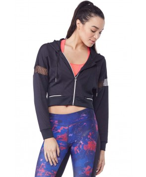 Industry Active Cropped Jacket w/ Hood