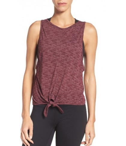 Zella Drop The Armhole Tank -Small - Burgundy