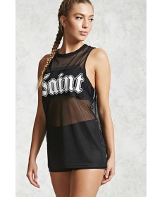 Forever 21 Active Saint Graphic Tank Top