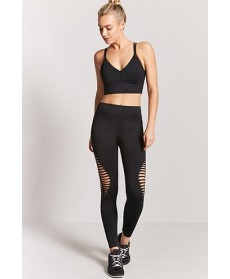 Forever 21  Active Ladder Cutout Leggings