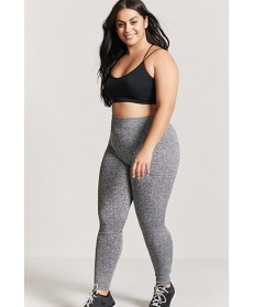 Forever 21  Plus Size Active Marled Leggings