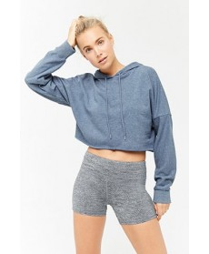 Forever 21 Active Hooded French Terry Top