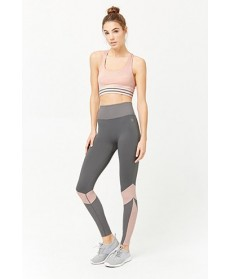 Forever 21  Active Dotted-Trim Leggings