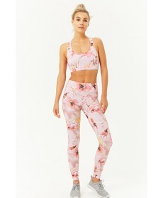 Forever 21  Active Tropical Floral Leggings