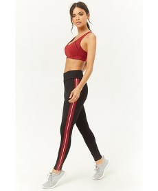 Forever 21  Active Contrast Piping & Trim Leggings