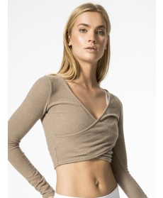 Carbon38 Amelia Luxe Long Sleeve Crop