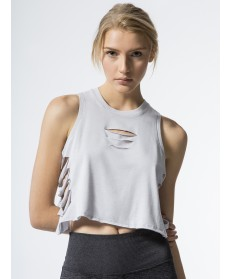 Carbon38 Cut It Out Cropped Tank