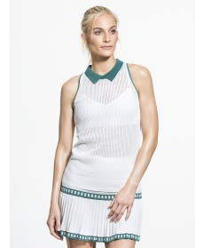 Carbon38 Mesh Knit Collar Halter Top