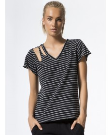 Carbon38 Faded Stripe Pine Tee