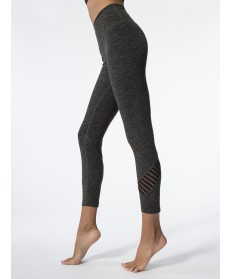 Carbon38 Spacedye Stacked and Sliced High Waisted Midi Legging