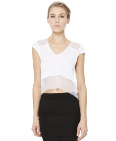 Alo Yoga Sheer Panel Short Sleeve Top
