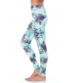 Balance Fit Wear Long Legging-Reptile Aqua